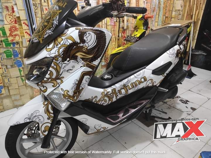 decal nmax putih maxgraphica cutting sticker sidoarjo